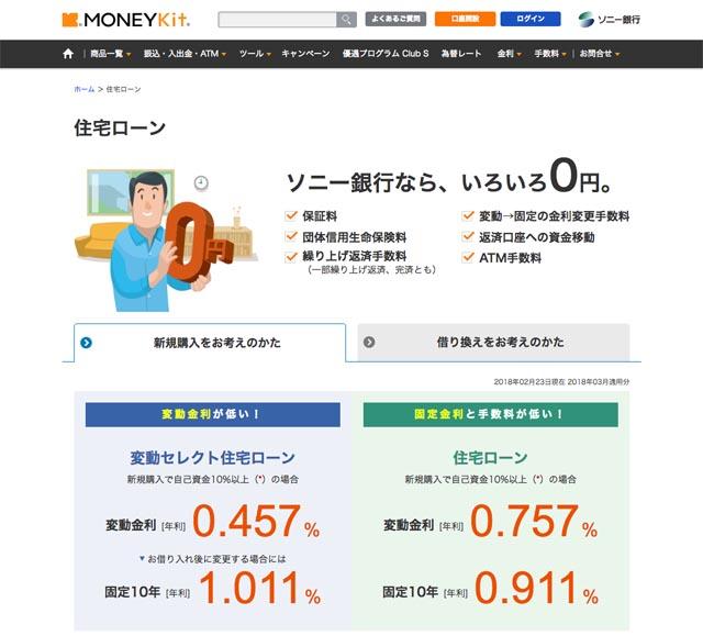 ソニー銀行住宅ローン